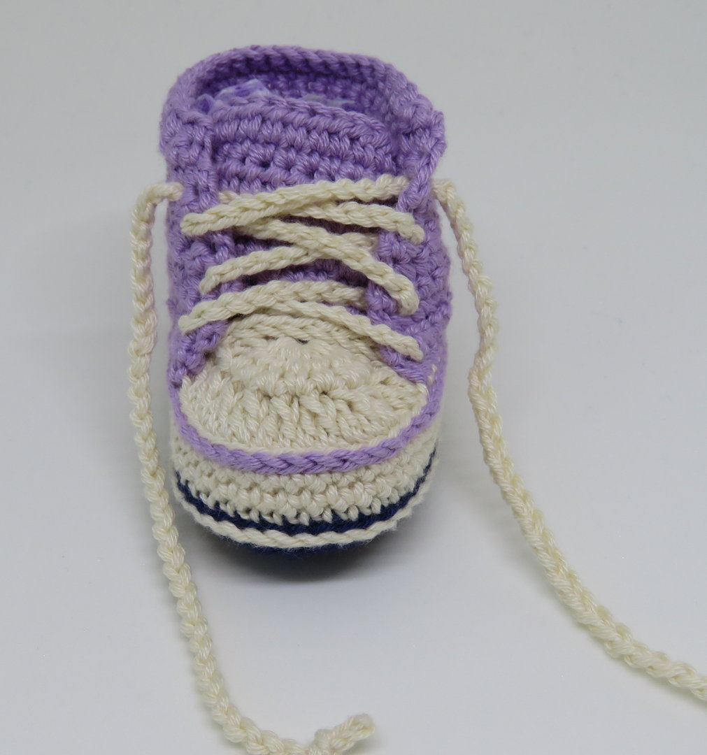Baby Chucks Booties Schuhe Step By Step Häkelanleitung Mrs
