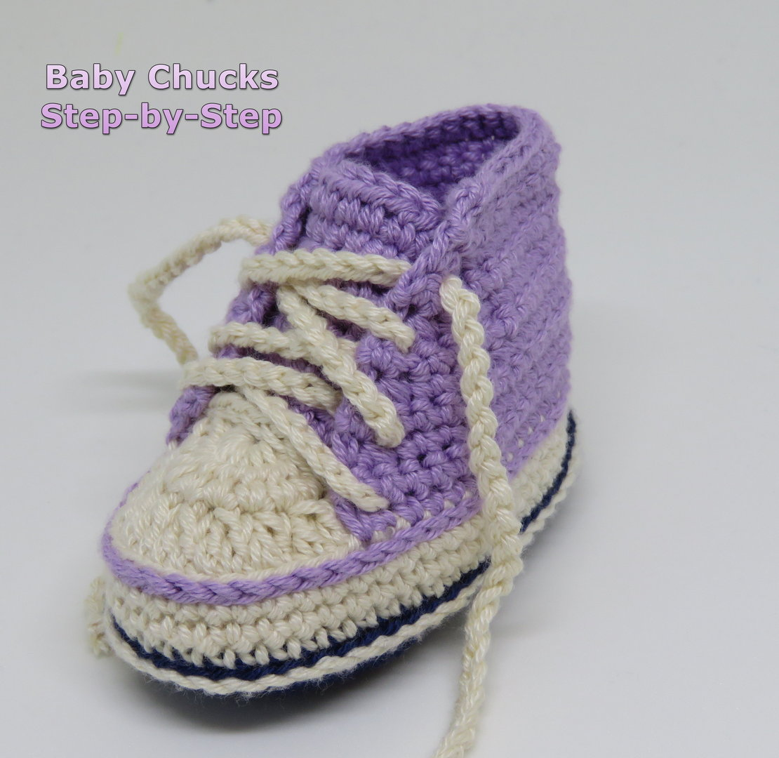 Baby Chucks - Booties - Schuhe ´Step by Step´ (Häkelanleitung)